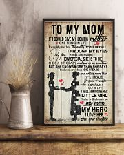 TO MY MOM - VINTAGE - YOU ARE APPRECIATED 16x24 Poster lifestyle-poster-3