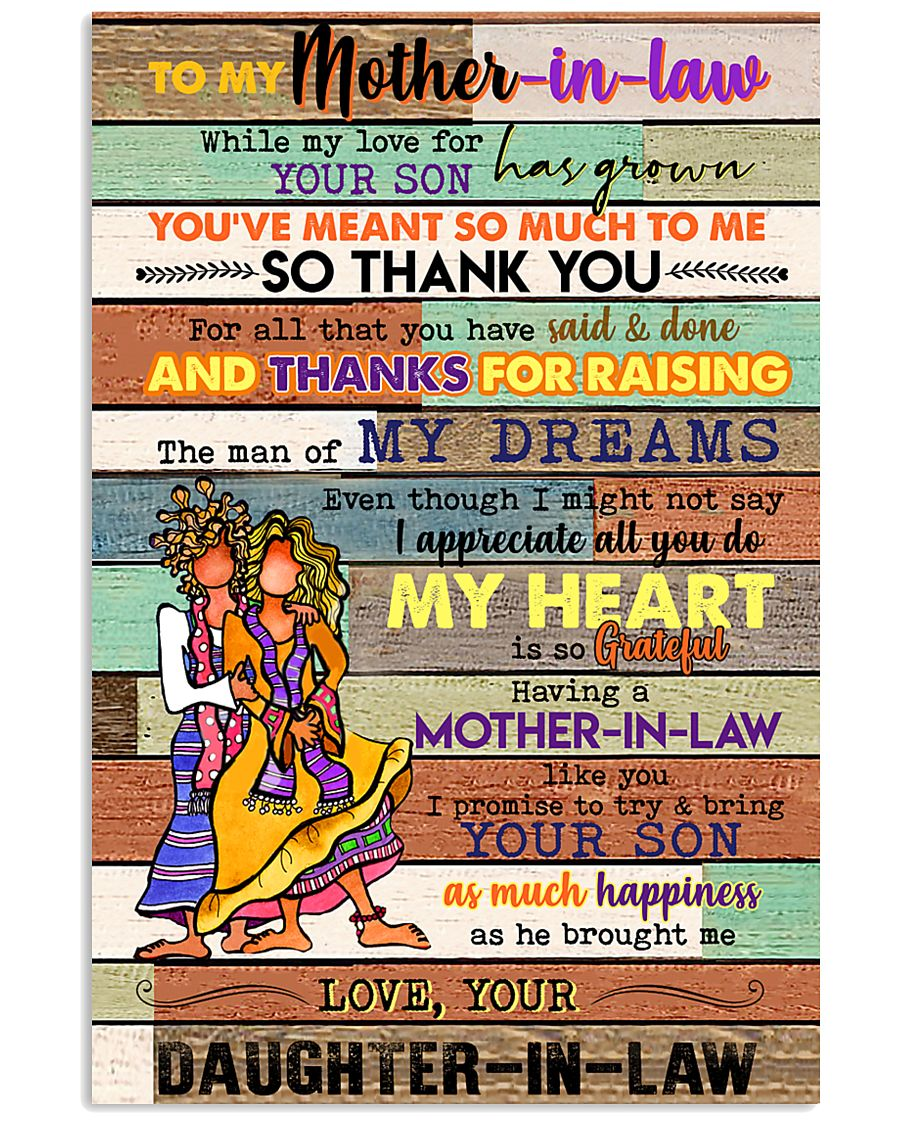 TO MY MOTHET-IN-LAW - HIPPIE - THANK YOU 16x24 Poster