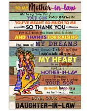 TO MY MOTHET-IN-LAW - HIPPIE - THANK YOU 16x24 Poster front