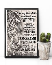 TO MY DAUGHTER - TIGER MOM - SOMETIMES 16x24 Poster lifestyle-poster-8