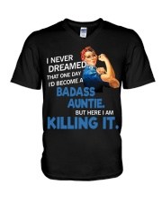 I never dreamed that one day I'd become a badass  V-Neck T-Shirt thumbnail
