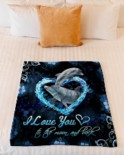"""TO MY DAUGHTER - MARINE ANIMAL - LOVE YOU Small Fleece Blanket - 30"""" x 40"""" aos-coral-fleece-blanket-30x40-lifestyle-front-04"""