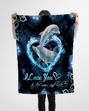 """TO MY DAUGHTER - MARINE ANIMAL - LOVE YOU Small Fleece Blanket - 30"""" x 40"""" aos-coral-fleece-blanket-30x40-lifestyle-front-14"""
