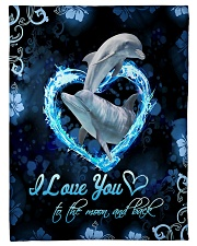 """TO MY DAUGHTER - MARINE ANIMAL - LOVE YOU Small Fleece Blanket - 30"""" x 40"""" front"""