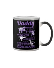 DAD - PURPLE LETTERS IN BLACK - FAVORITE DINOSAUR Color Changing Mug thumbnail