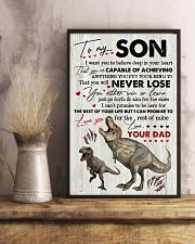 Saurus - Dad To Son - I Want You To Believe 16x24 Poster lifestyle-poster-3