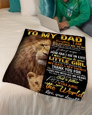 """FLEECE BLANKET - TO MY DAD - THANK YOU Small Fleece Blanket - 30"""" x 40"""" aos-coral-fleece-blanket-30x40-lifestyle-front-07"""