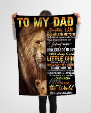 """FLEECE BLANKET - TO MY DAD - THANK YOU Small Fleece Blanket - 30"""" x 40"""" aos-coral-fleece-blanket-30x40-lifestyle-front-14"""
