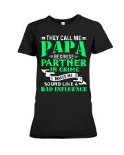 PAPA - BECAUSE - BAD INFLUENCE Premium Fit Ladies Tee thumbnail
