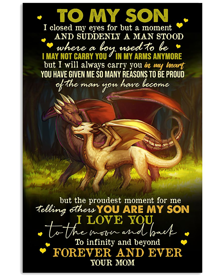 MOM TO SON - DRAGON - FOREVER 16x24 Poster