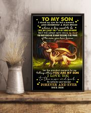 MOM TO SON - DRAGON - FOREVER 16x24 Poster lifestyle-poster-3