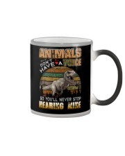 Dinosaurs - Animals Don't Have A Voice - T-Shirt Color Changing Mug thumbnail