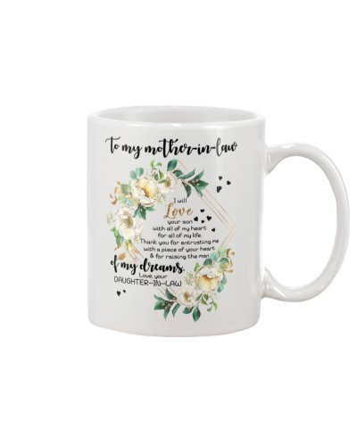 MUG- TO MY MOTHER-IN-LAW - FLOWER - I WILL LOVE