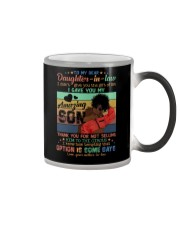 To My Daughter-in-law - Black Woman - Circus  Color Changing Mug tile