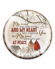 My Mind Still Talks To You - Cardinal Circle ornament - single (porcelain) front