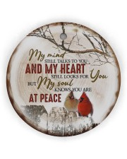 My Mind Still Talks To You - Cardinal Circle ornament - single (wood) thumbnail