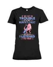 IT'S MY AUNTIE'S FAULT Premium Fit Ladies Tee thumbnail