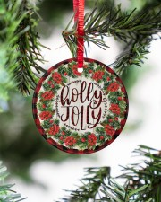 Christmas - Holy Joly - Circle Ornament Circle ornament - single (porcelain) aos-circle-ornament-single-porcelain-lifestyles-07