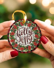 Christmas - Holy Joly - Circle Ornament Circle ornament - single (porcelain) aos-circle-ornament-single-porcelain-lifestyles-08