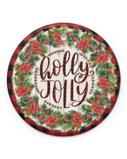 Christmas - Holy Joly - Circle Ornament Circle ornament - single (porcelain) front
