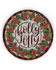 Christmas - Holy Joly - Circle Ornament Circle Ornament (Wood tile