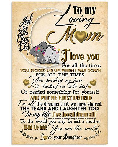 LOVING MOM - ELEPHANT - YOU ARE THE WORLD