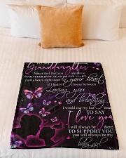 "GRANDMA TO GRANDDAUGHTER Small Fleece Blanket - 30"" x 40"" aos-coral-fleece-blanket-30x40-lifestyle-front-04"