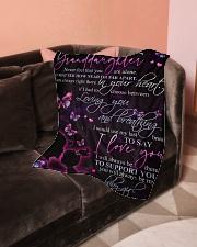 "GRANDMA TO GRANDDAUGHTER Small Fleece Blanket - 30"" x 40"" aos-coral-fleece-blanket-30x40-lifestyle-front-05"