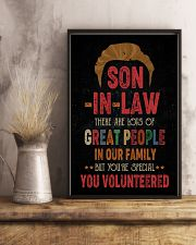 POSTER  - SON-IN-LAW - VINTAGE - YOU VOLUNTEERED 16x24 Poster lifestyle-poster-3