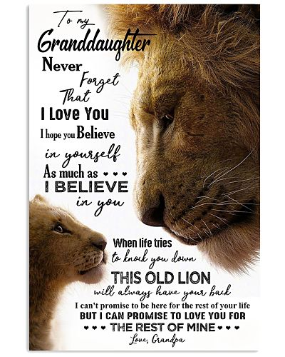 POSTER - TO MY GRANDDAUGHTER - LION - THIS OLD