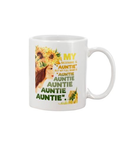 My nickname is ''auntie''