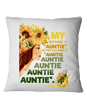 My nickname is ''auntie'' Square Pillowcase thumbnail