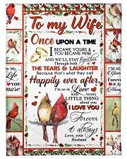 TO MY WIFE Fleece Blanket tile