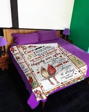 "TO MY WIFE Large Fleece Blanket - 60"" x 80"" aos-coral-fleece-blanket-60x80-lifestyle-front-01"