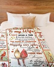"TO MY WIFE Large Fleece Blanket - 60"" x 80"" aos-coral-fleece-blanket-60x80-lifestyle-front-02"