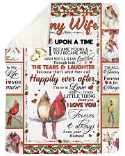 "TO MY WIFE Large Sherpa Fleece Blanket - 60"" x 80"" thumbnail"