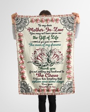 "FLEECE BLANKET - TO MY MOTHER-IN-LAW - PROTEA Small Fleece Blanket - 30"" x 40"" aos-coral-fleece-blanket-30x40-lifestyle-front-14"