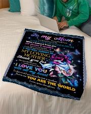 "FLEECE BLANKET - TO MY MOM - FLOWER Small Fleece Blanket - 30"" x 40"" aos-coral-fleece-blanket-30x40-lifestyle-front-07"