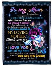"FLEECE BLANKET - TO MY MOM - FLOWER Small Fleece Blanket - 30"" x 40"" front"