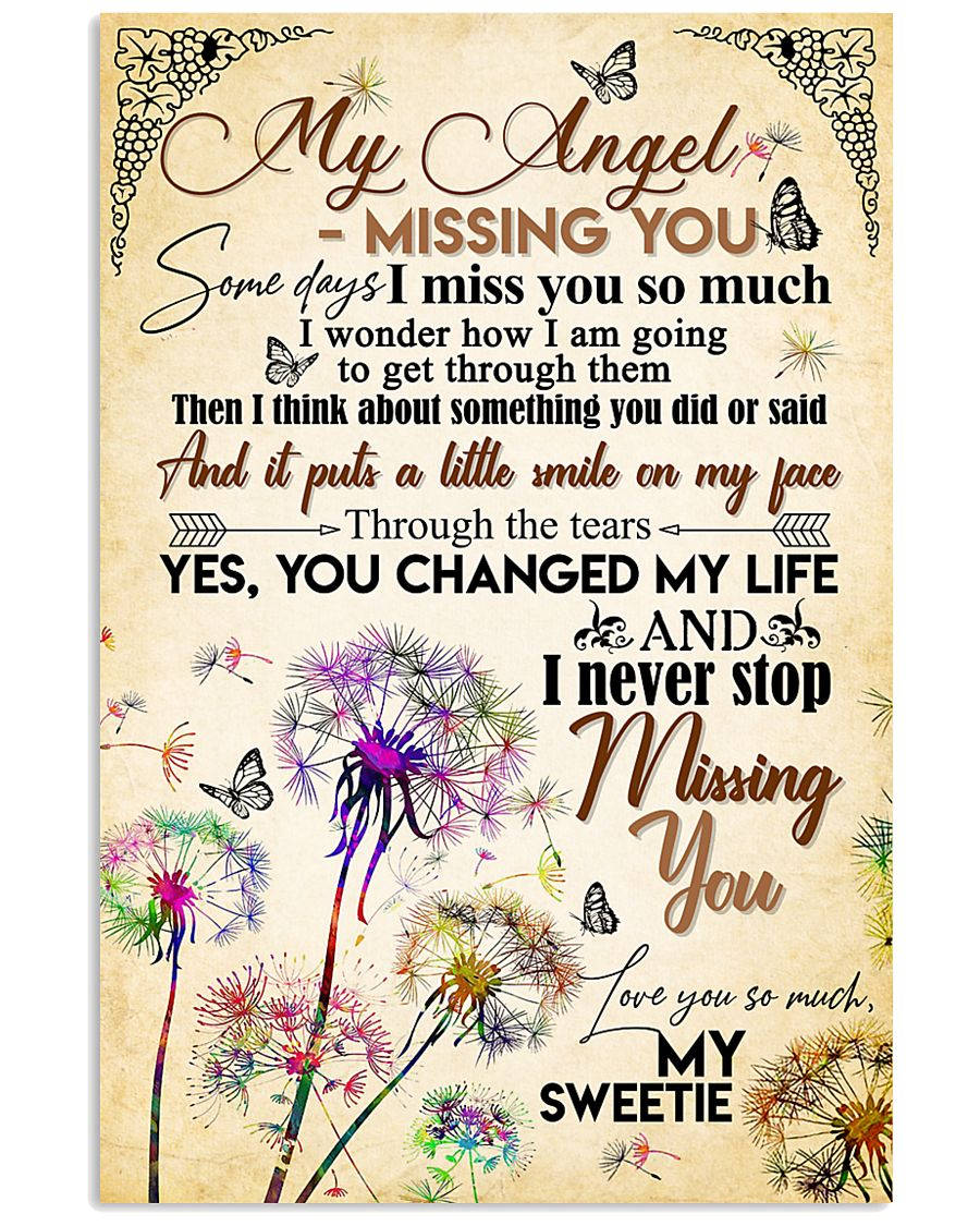 MY ANGEL IN HEAVEN - DANDELION - MISS YOU 16x24 Poster