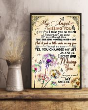 MY ANGEL IN HEAVEN - DANDELION - MISS YOU 16x24 Poster lifestyle-poster-3