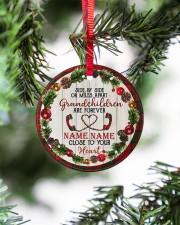 Grandchild - Close To Your Heart - Personalized Circle ornament - single (porcelain) aos-circle-ornament-single-porcelain-lifestyles-07