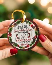 Grandchild - Close To Your Heart - Personalized Circle ornament - single (porcelain) aos-circle-ornament-single-porcelain-lifestyles-08