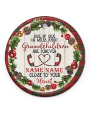 Grandchild - Close To Your Heart - Personalized Circle ornament - single (porcelain) front