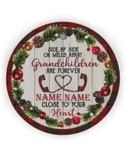Grandchild - Close To Your Heart - Personalized Circle ornament - single (wood) thumbnail
