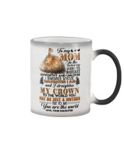 TO MY MOM - LION - ON THE DARKEST DAYS Color Changing Mug thumbnail