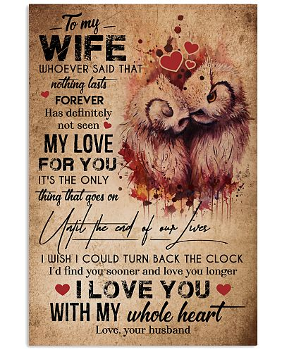 TO MY WIFE - OWL - I LOVE YOU FOREVER AND ALWAYS