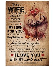 TO MY WIFE - OWL - I LOVE YOU FOREVER AND ALWAYS 16x24 Poster front