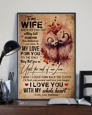 TO MY WIFE - OWL - I LOVE YOU FOREVER AND ALWAYS 16x24 Poster lifestyle-poster-2