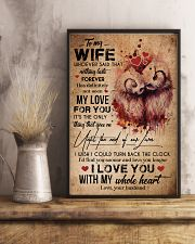 TO MY WIFE - OWL - I LOVE YOU FOREVER AND ALWAYS 16x24 Poster lifestyle-poster-3